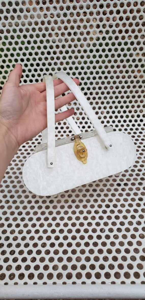 PEARL 1950s Lucite and Bakelite Purse Original Ria