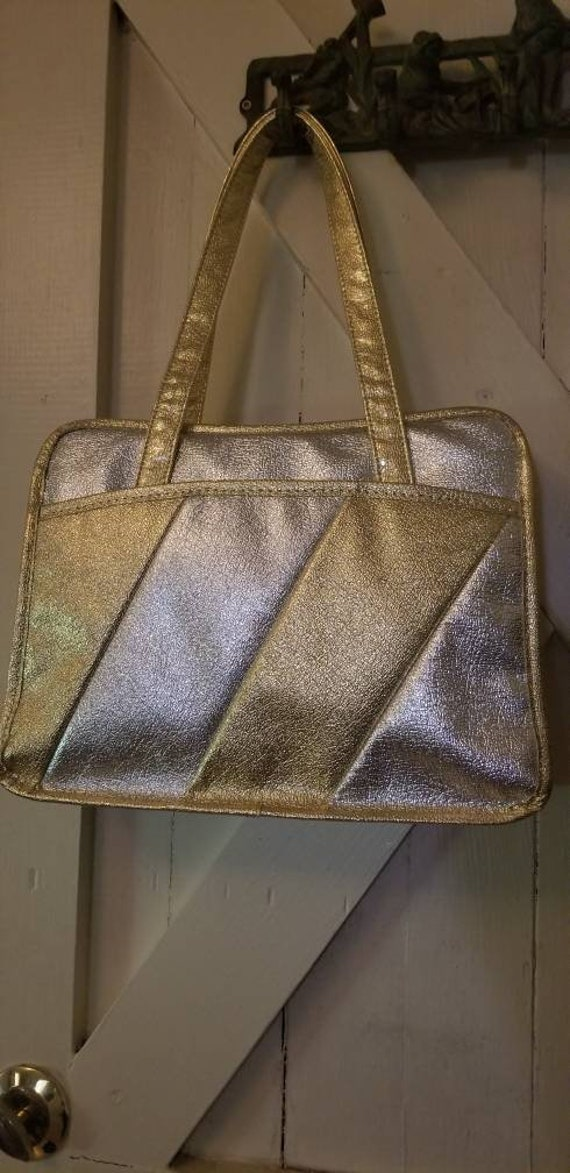 STARDUST Gold 1970s Disco Handbag
