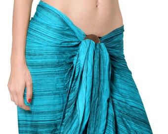 581938ffeaf7b La Leela Rayon Cover up Suit Bathing Wrap Sarong Tie Dye Pareo Swimwear  Swimsuit Bathing Towel Skirt Women 78