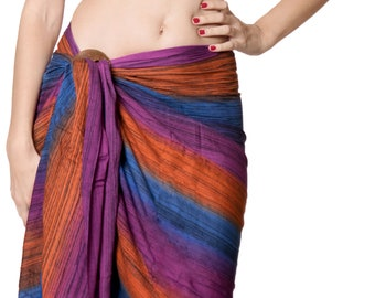 326e5039eec34 La Leela Rayon Women Wrap Bathing Suit Sarong Tie Dye Pareo Swimwear  Swimsuit Coverup Beach Dress Bathing Towel 78