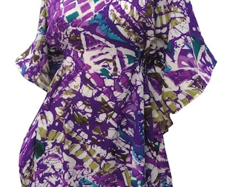 5bf46f7d925ea Swim LA LEELA Bikini Swim Beach wear Swimsuit Cover-ups Women Caftan Dresses  Tie Dye 132264