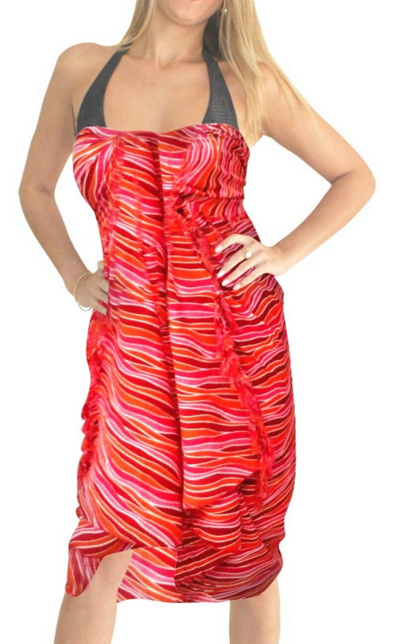 76d1095da649e La Leela Soft Light Swimwear Wrap Pareo Long Sarong Printed | Etsy