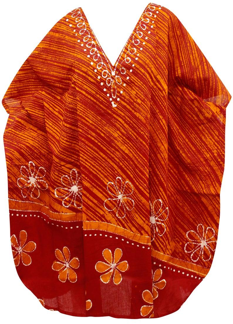 93359637af367 La Leela Sheer Chiffon Leaf Printed Beach Swim Cover up Kaftan | Etsy
