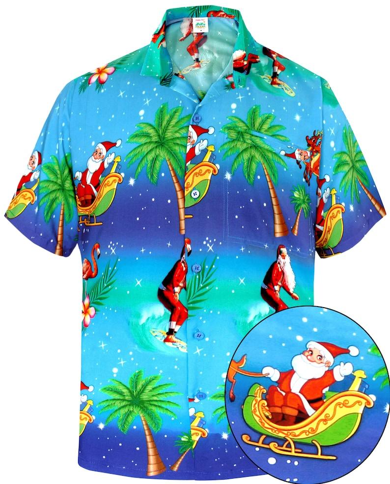 d2d1cc90 LA LEELA Shirt Casual Button Down Short Sleeve Beach Shirt Men | Etsy