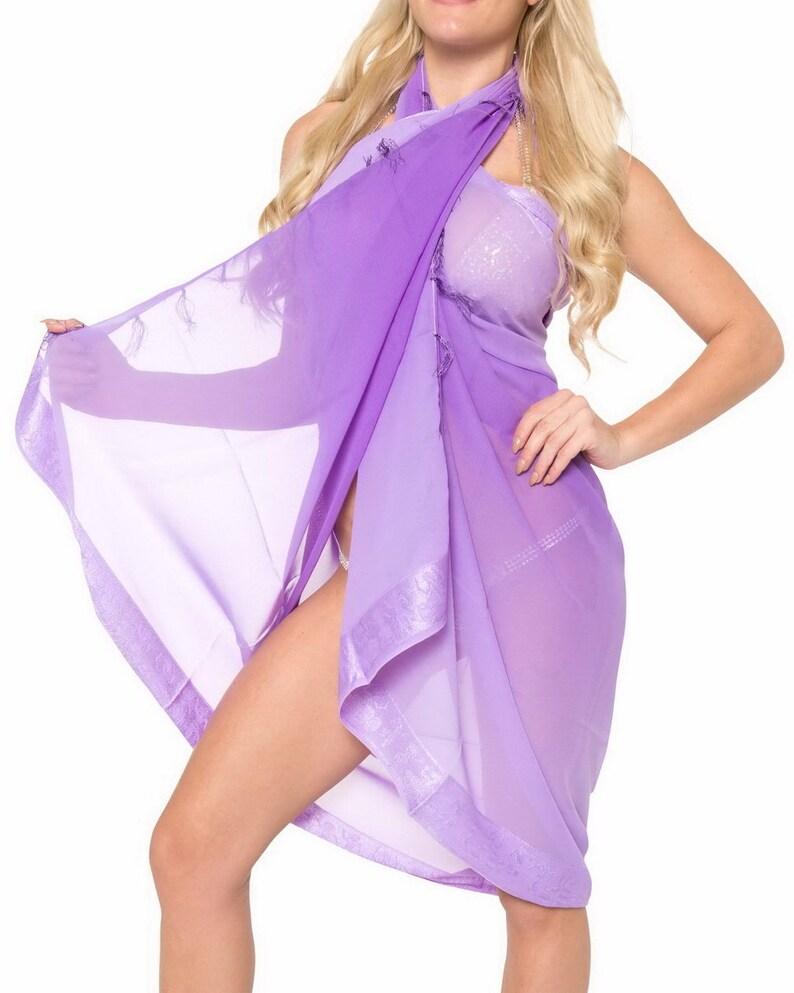 24b0cf48a1607 La Leela Sheer Chiffon Bathing Suit Pareo Wrap Bikini Cover | Etsy