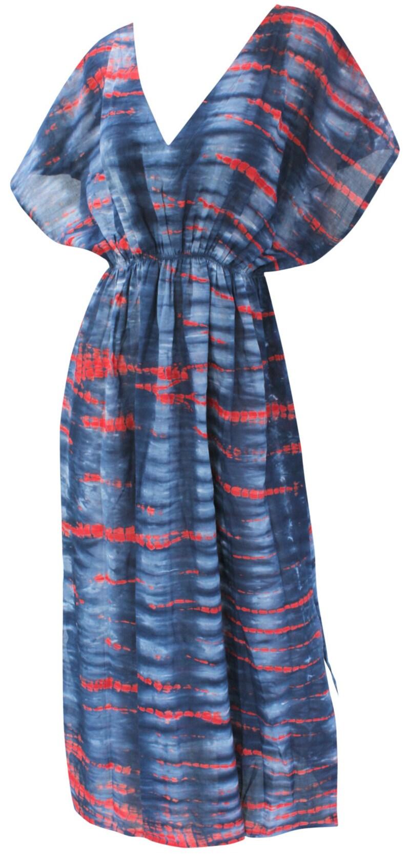 LA LEELA Multipurpose Soft Rayon Stretchable Caftan Cover up Long Casual Dress