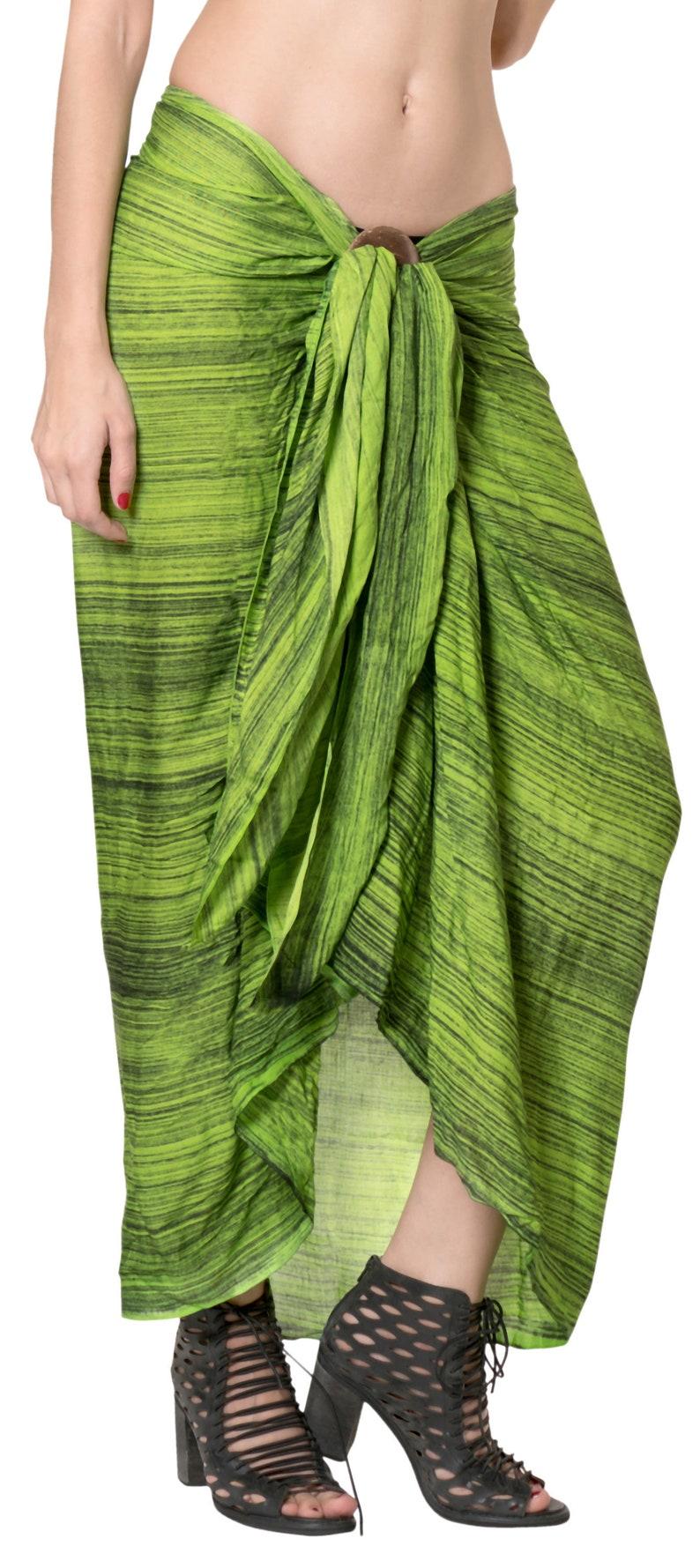 a4d1d118ec La Leela Rayon Long Swim Dress Beach Wear Sarong Tie Dye Pareo | Etsy
