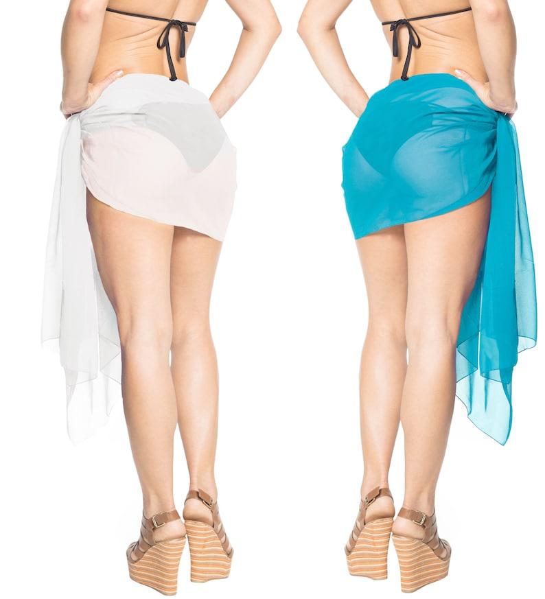 942ffbf50d353 La Leela Sheer Chiffon Swimsuit Pareo Beach Suit Towel Women | Etsy