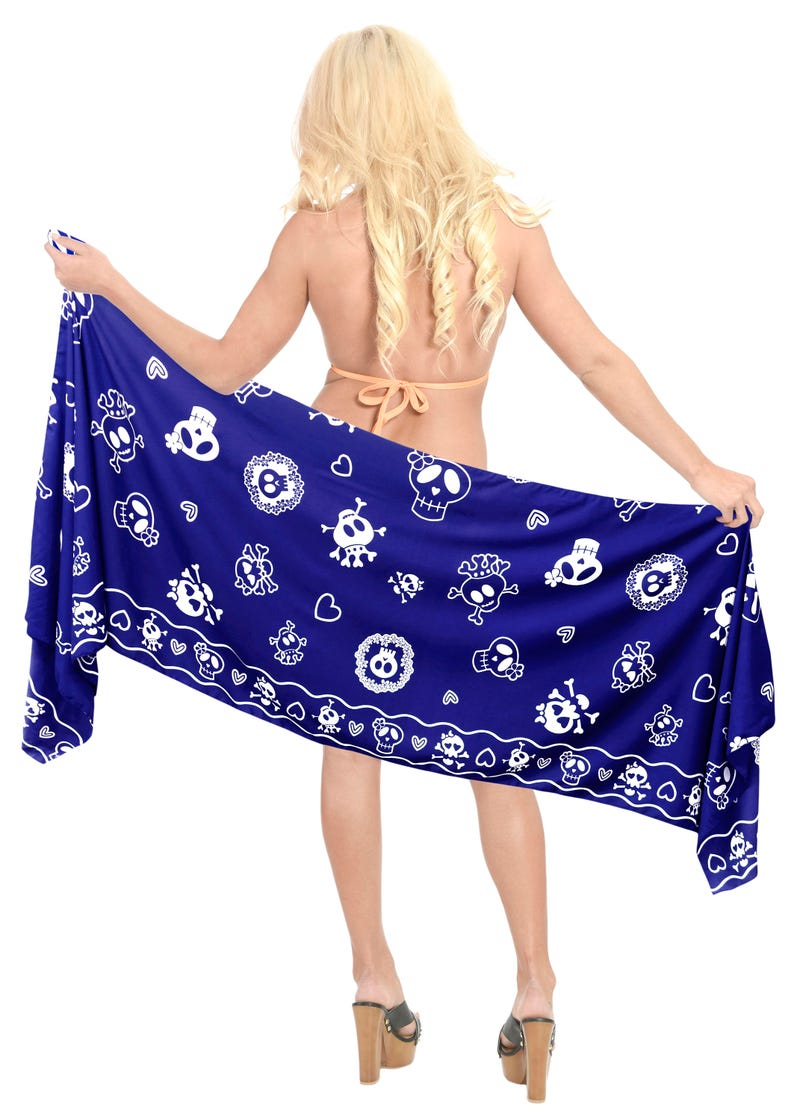 b4f8658bdf365 LA LEELA Women Short Sarong Wrap Skirt Pareo Swimsuit | Etsy