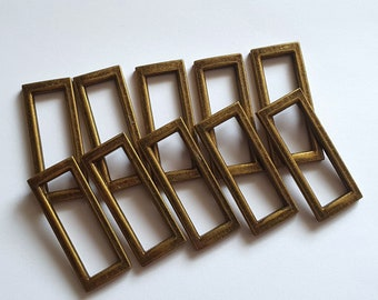 Antique Brass Slider Buckles 38mm - Various Quantites