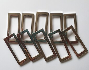 Silver / Nickel / Chrome Slider Buckles 38mm - Various Quantities