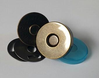 Magnetic Bag Clasp 18mm Antique Brass  5, 10 or 100 sets