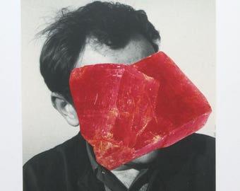 Dead Meat original collage 9.7cm x 13.7cm