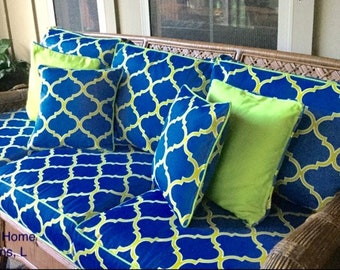 custom outdoor patio furniture replacement cushion covers with piping and zipper - Patio Cushion Covers