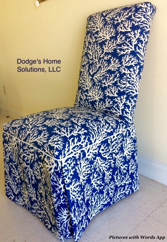 Terrific Coastal Parson Chair Royal Blue With White Coastal Motif Sold Dining Chairs Upcycled Furniture Upholstered Chairs Squirreltailoven Fun Painted Chair Ideas Images Squirreltailovenorg
