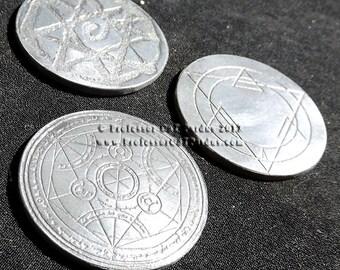 Fullmetal Alchemist (FmA) Eldric brothers Transmutation Circle cold cast coins.