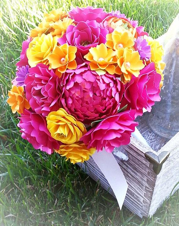 Paper Bouquet Paper Flower Bouquet Wedding Bouquet Shades Of