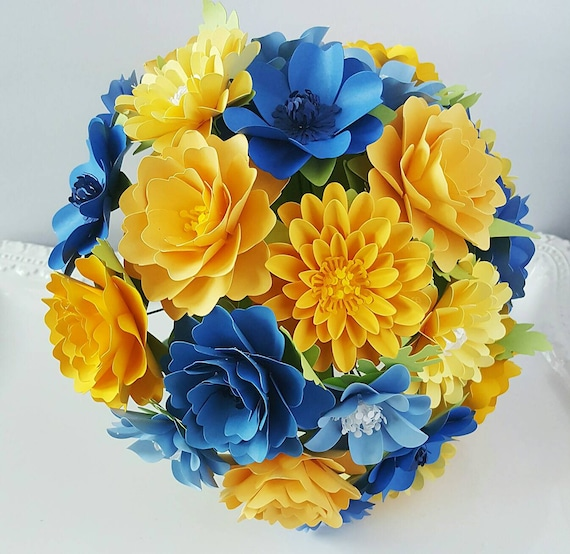 Paper bouquet paper flower bouquet handmade wedding etsy image 0 mightylinksfo