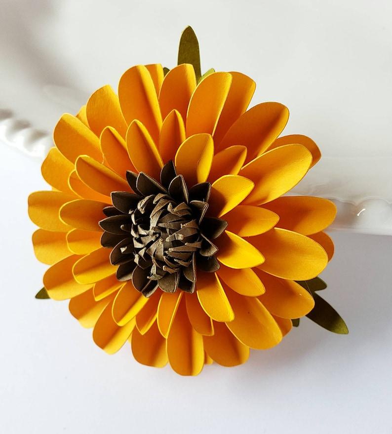 Easy Paper Flower Tutorial Paper Flower Templates Cricut 3d Flowers Svg Pdf Small Flowers Party Decor Sunflower