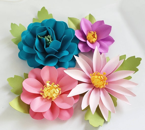 EASY DIY PAPER FLOWERS | PAPER CRAFTING | EMBELLISHMENTS - YouTube | 512x570