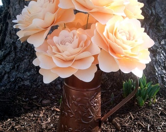 Paper Flowers - Table Decorations - Wedding Decorations - Centerpiece - Stemmed -  Extra Large - Set of 24 - Made To Order
