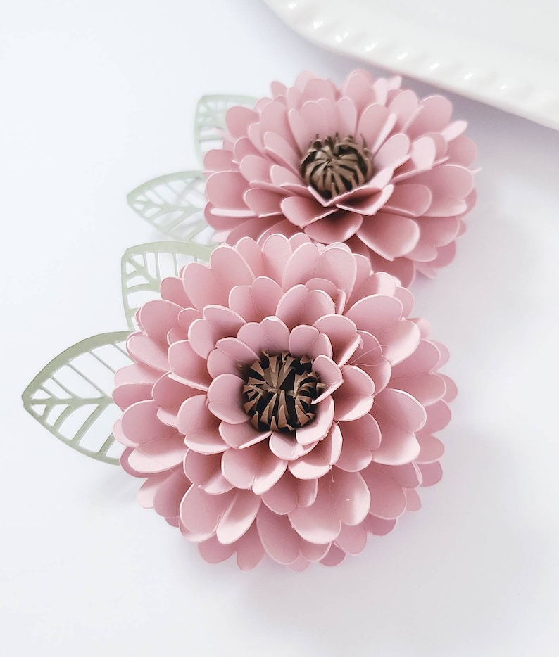 Easy Paper Flower Tutorial Paper Flower Templates Diy Flowers 3d Flowers Svg Pdf Small Flowers Party Decor Zinnia Flower