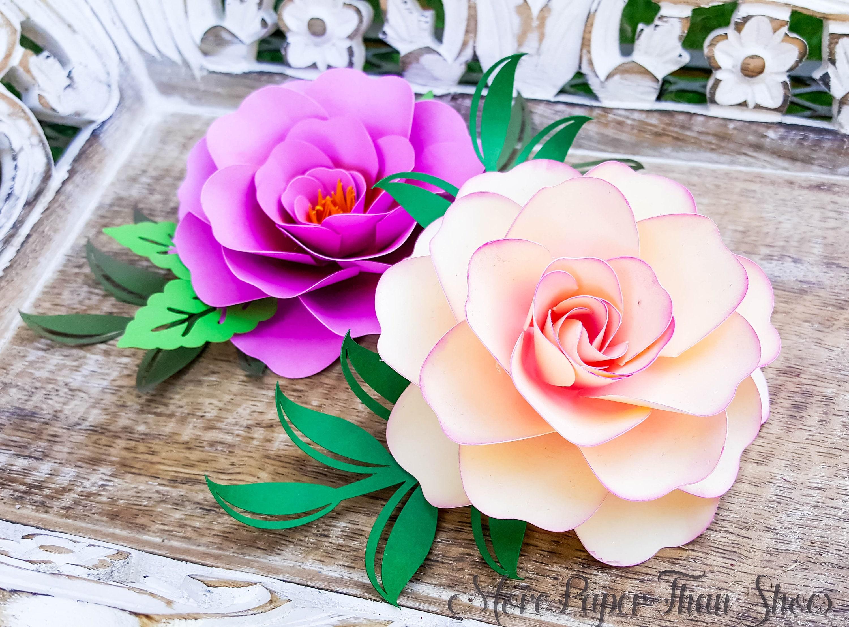 Easy Paper Flower Tutorial Paper Flower Templates Diy Flowers 3d Flowers Svg Pdf Small Flowers Party Decor Ashley Flower
