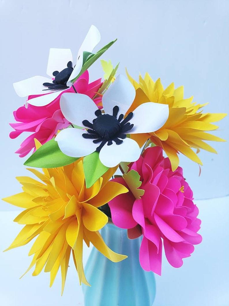 Cricut SVG Party Decor Large Filler Flower PDF Paper Flower Templates Small Flowers 3D Flowers Easy Paper Flower Tutorial