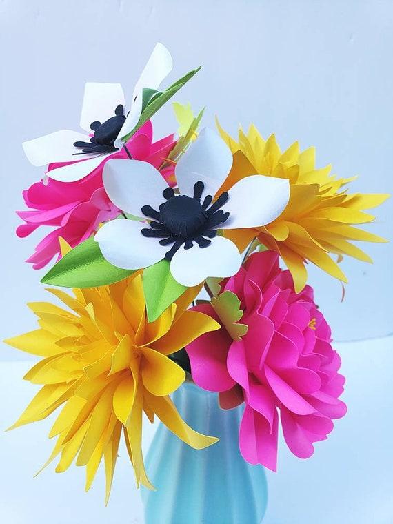 Easy Paper Flower Tutorials Paper Flower Templates Diy Flowers