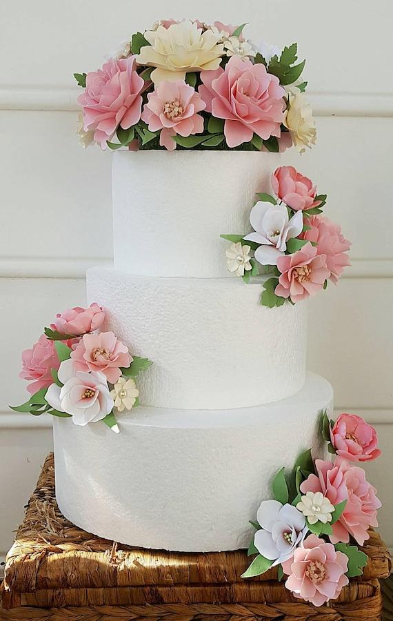 Cake Flowers Flower Wedding Cake Paper Flower Wedding Cake