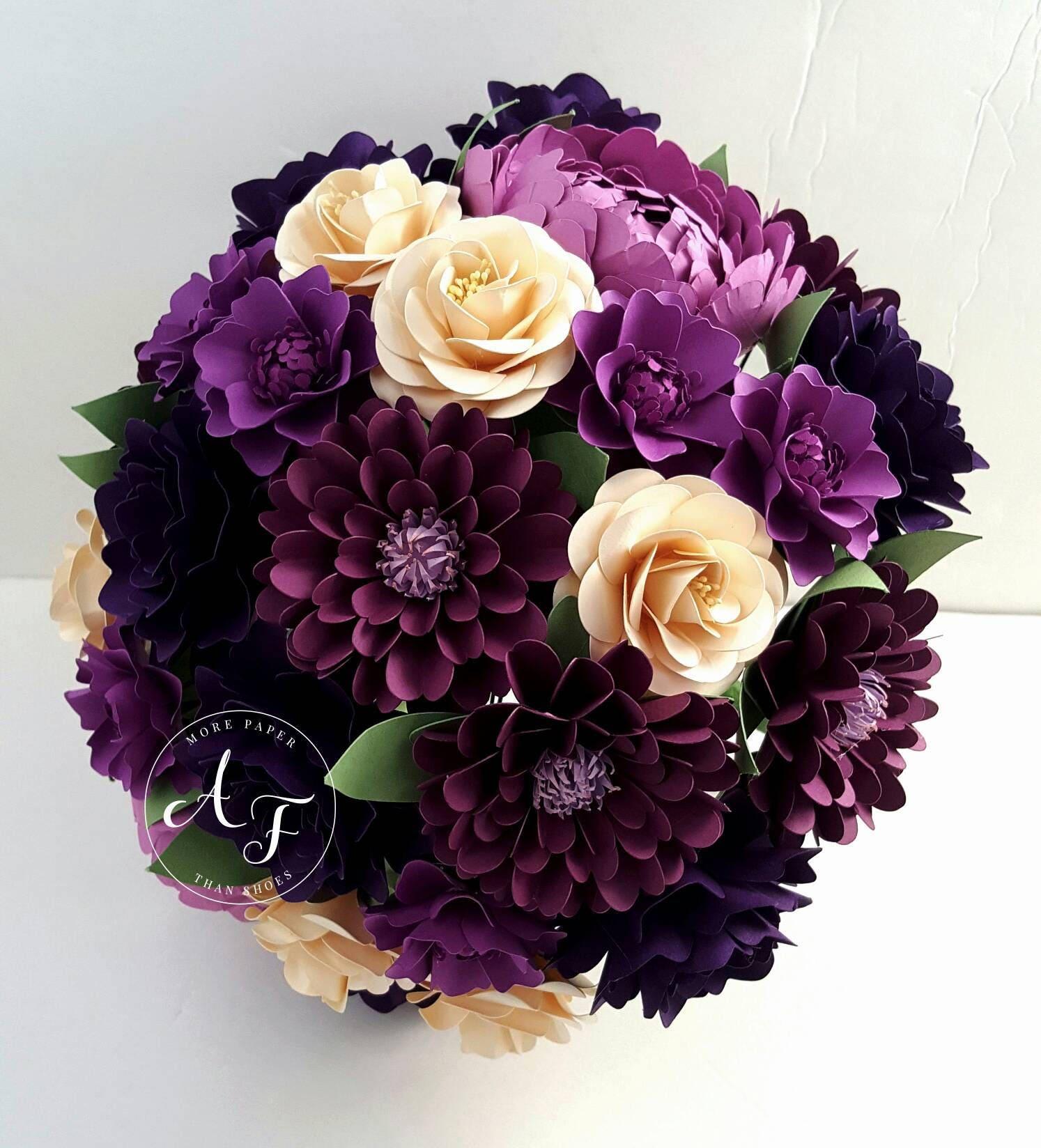 Paper bouquet paper flower bouquet wedding bouquet etsy zoom izmirmasajfo