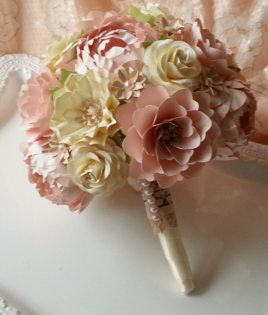 Wedding Bouquets Not Flowers: Handmade Paper Bouquet Wedding Bouquet Paper Flower