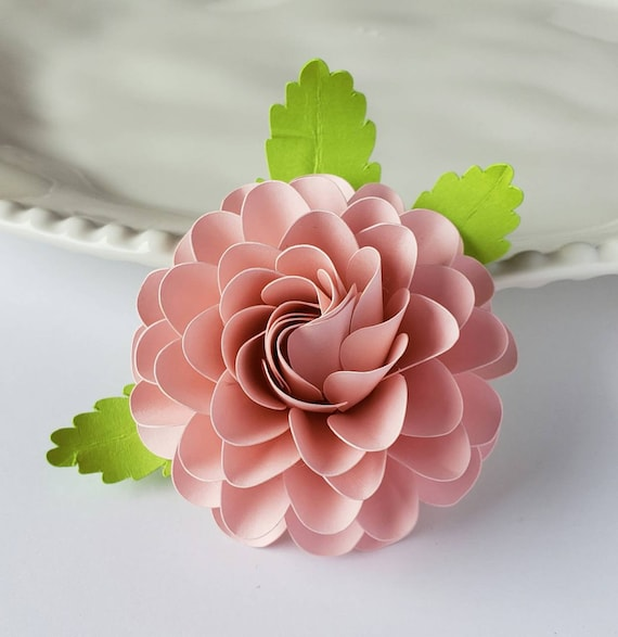 Easy Paper Flower Tutorial Paper Flower Templates Cricut 3d Flowers Svg Pdf Small Flowers Party Decor Round Ball Dahlia