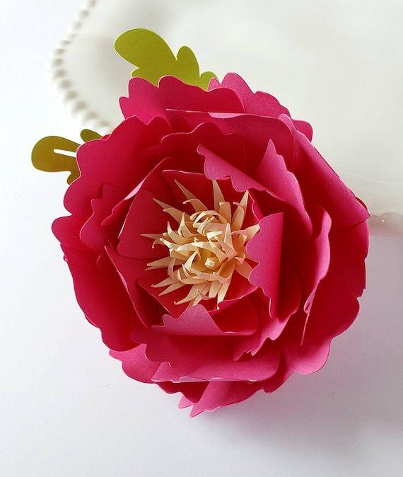 Easy Paper Flower Tutorial Paper Flower Templates Cricut 3d