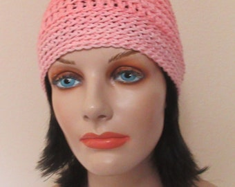 Beanie, Sea Coral Crochet Hat, Hockey Mom, Ice Skating, Snow Playing, Cold Weather Accessory