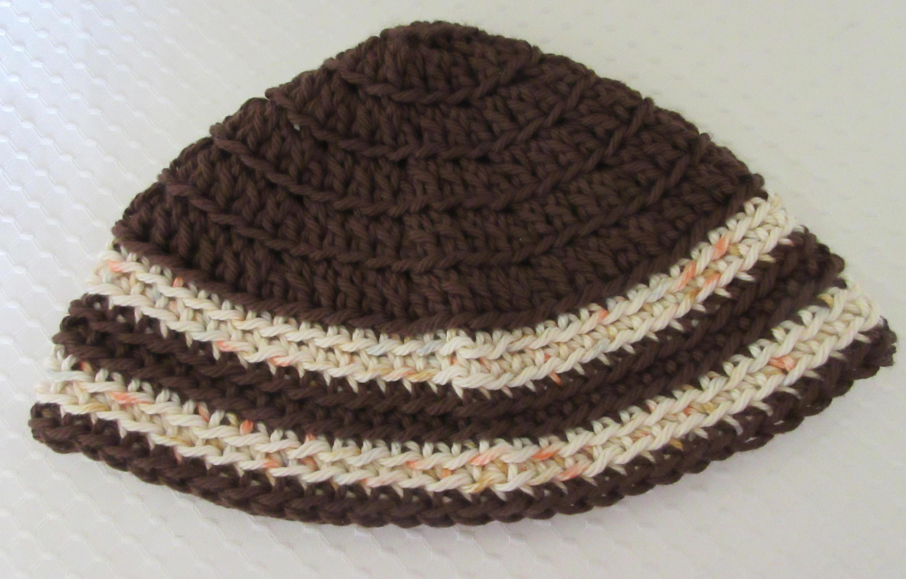 Brown Kippot Kippah Extra Large Crochet Kippot Jewish Head