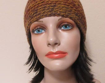 Beanie, Rust Beanie, Cold Weather Accessory, Rust Snow Hat, Gender Neutral Hat