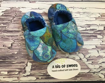 Made to Order Merman Scales Soft Sole Shoes