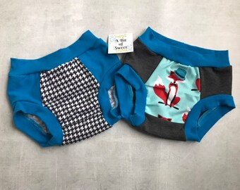 Mr Fox and Houndstooth Duo Pack of Trainer Underwear or Big Kid Undies