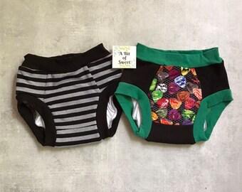 Guitar Picks and Stripes Duo Pack of Trainer Underwear or Big Kid Undies