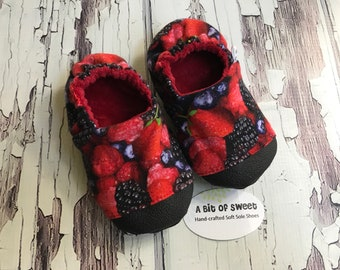 Made to Order Berries Soft Sole Shoes