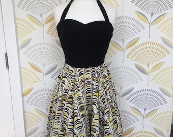 0cffe4af50 1990s does 1950s Anthropologie Full Skirt Halter Neck Dress