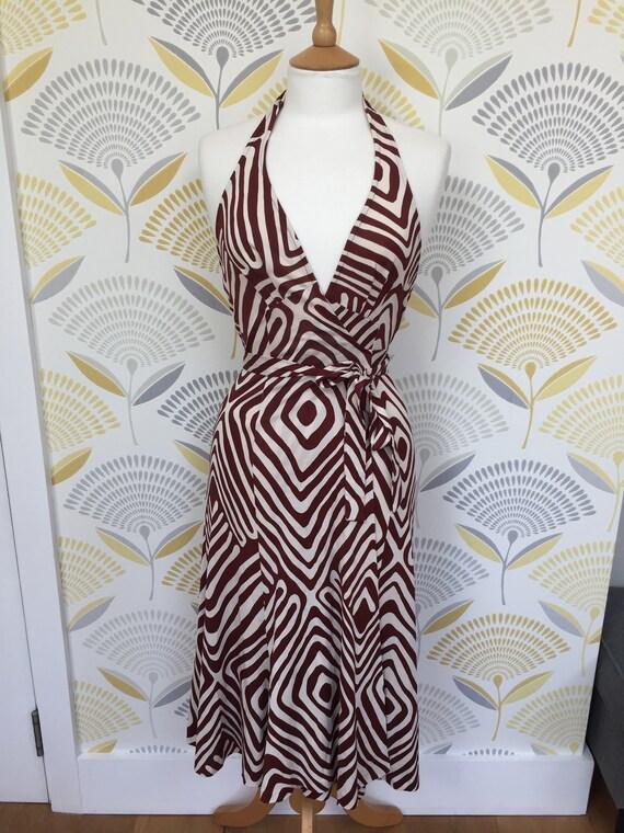 1990s Diane Von Furstenberg Halter Wrap Dress