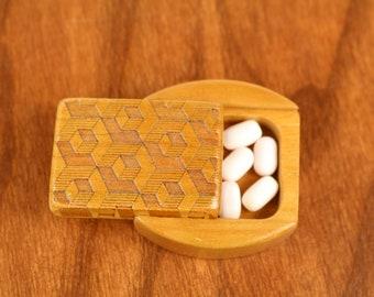 DISCONTINUED - REDUCED PRICE Sliding Lid Storage Box, Solid Cherry, Mini Box, Paul Szewc