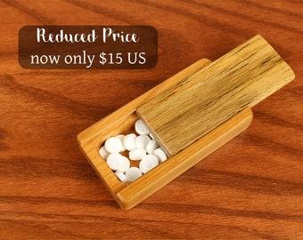DISCONTINUED - REDUCED PRICE Medium Sliding Wooden Storage Box, Slider Box, Masterpiece Laser