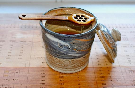 Small Maple Honey Dipper, Honey Stick, Hard Maple Lasered Honey Stick, Masterpiece Laser, Paul Szewc