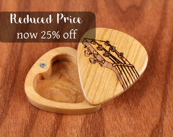 DISCONTINUED - REDUCED PRICE Slender Guitar Pick Box, Fret, 2-1/4