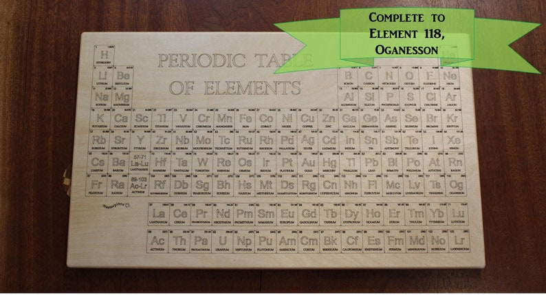 Wood Periodic Table Science Decor Chemistry Gift Science Wall Art 20 X 12 Laser Engraved Paul Szewc
