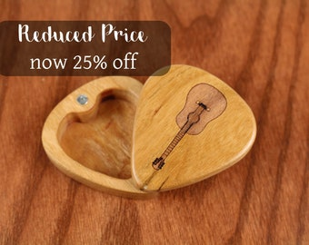 DISCONTINUED - REDUCED PRICE, Slender Guitar Pick Box, Acoustic, 2-1/4