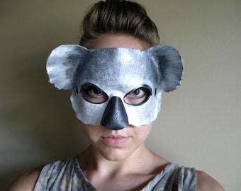 Koala Bear Leather Mask